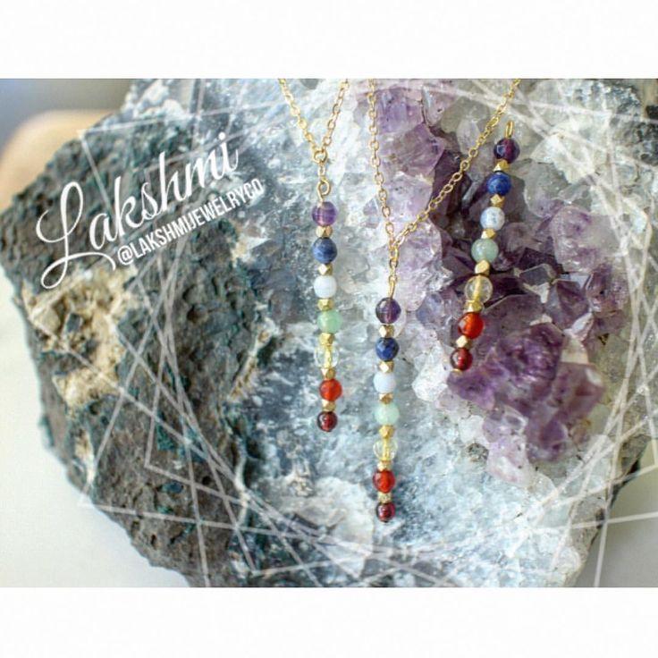 Chakra necklaces on chakra necklaces and I'm in love!   #chakras #goldjewelry #gemstonejewelry #energy #gemstones  @lakshmijewelryco • 31 likes