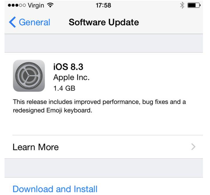 Apple iOS 8.3 Has Nasty New Bug
