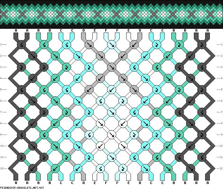 Pattern #487 (from friendship-bracelets.net)