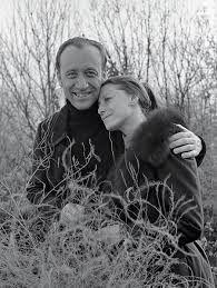 Russian ballerina Maya Plisetskaya with her husband composer Rodion Shchedrin
