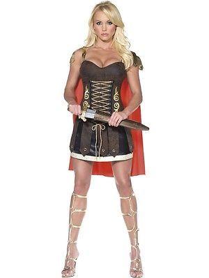Römerin Gladiatorin Kostüm sexy Xena Amazone Kämpferin Damen