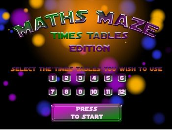 Maths Maze is a Windows based application designed to make learning times tables fun. Your students won't even know they're learning as they play through 33 levels, collecting coins and saving the princess. Each level requires students to solve a multiplication sum while they are trying to survive. Use Maths Maze as part of your homework or in class. Get it in my TPT store. Created by The Cool Classroom.