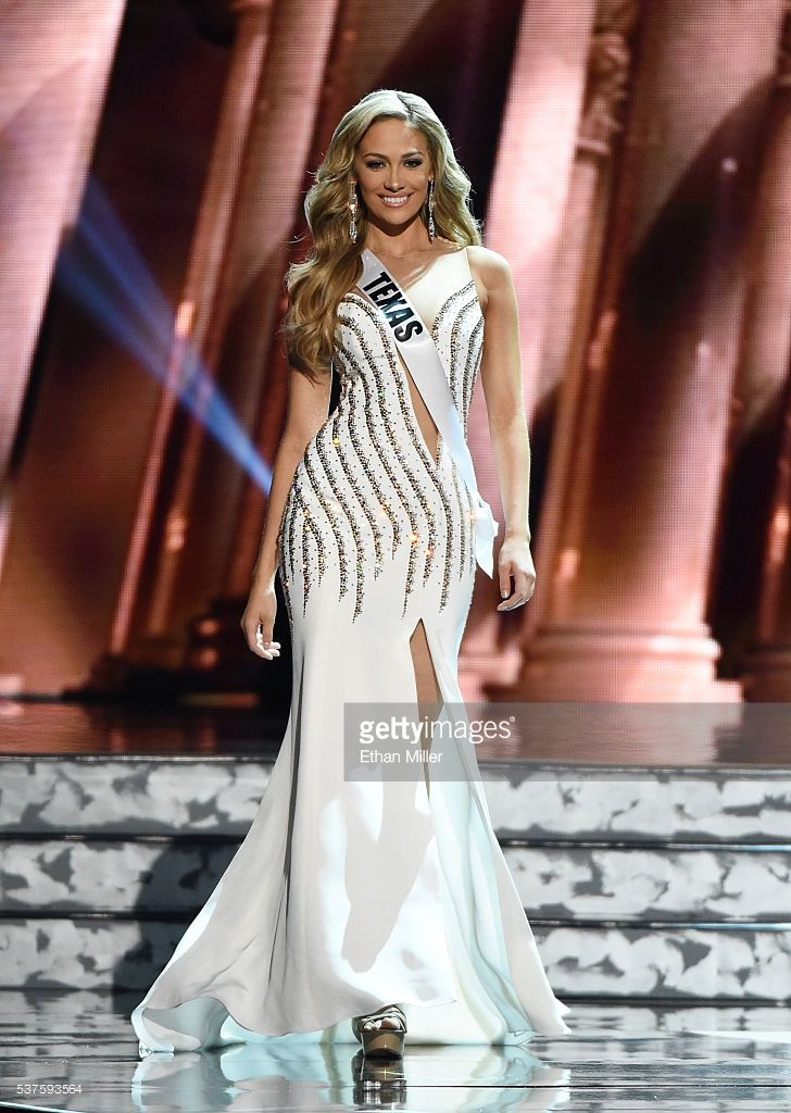 Miss Texas USA Daniella Rodriguez competes in the evening gown competition during the 2016 Miss USA pageant preliminary competition at T-Mobile Arena on June 1, 2016 in Las Vegas, Nevada. The 2016 Miss USA will be crowned on June 5 in Las Vegas.