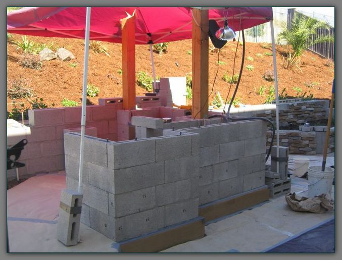 13 best images about cinder blocks on pinterest outdoor for Block outdoor kitchen