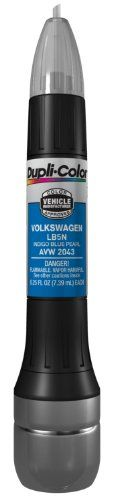 Dupli-Color AVW2043 Indigo Blue Pearl Volkswagen Exact-Match Scratch Fix All-in-1 Touch-Up Paint - 0.5 oz.