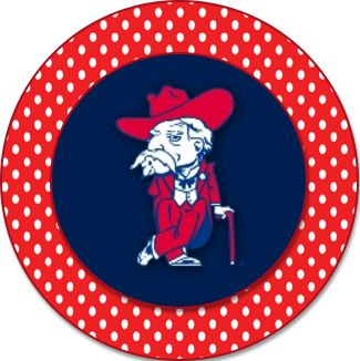 Ole Miss Cupcake Toppers that can be used as template for any Ole Miss game!