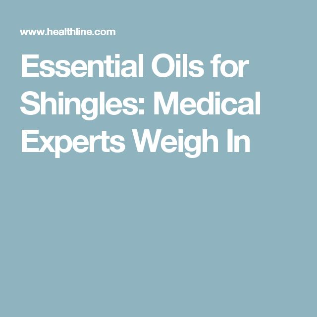 Essential Oils for Shingles: Medical Experts Weigh In