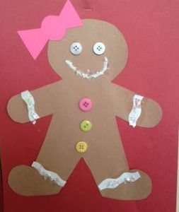 gingerbread craft idea for toddlers,kids and kindergarten