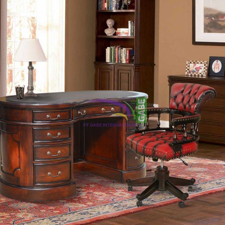 #officedesk bean side #design #classic wood #mahogany #soho #furniture #furnituretoday #gabeinternational