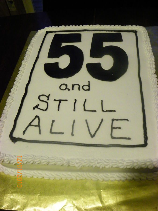 Speed Limit 55 Birthday | wanted a birthday cake for her husband that looked like a speed limit ...