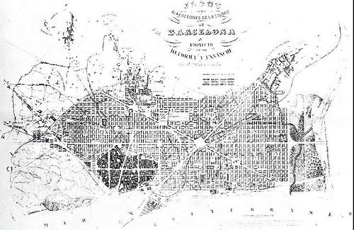 Urban plan for Barcelona, Ildefons Cerdà, 1859