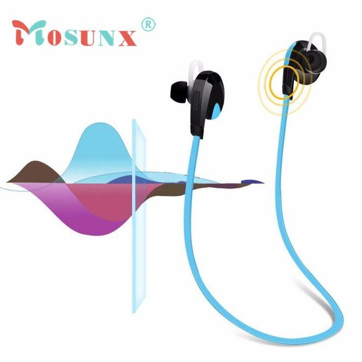 Mosunx New 2016 High Quality Bluetooth Wireless Handfree Headset Stereo Headphone Earphone Sport Universal JU4