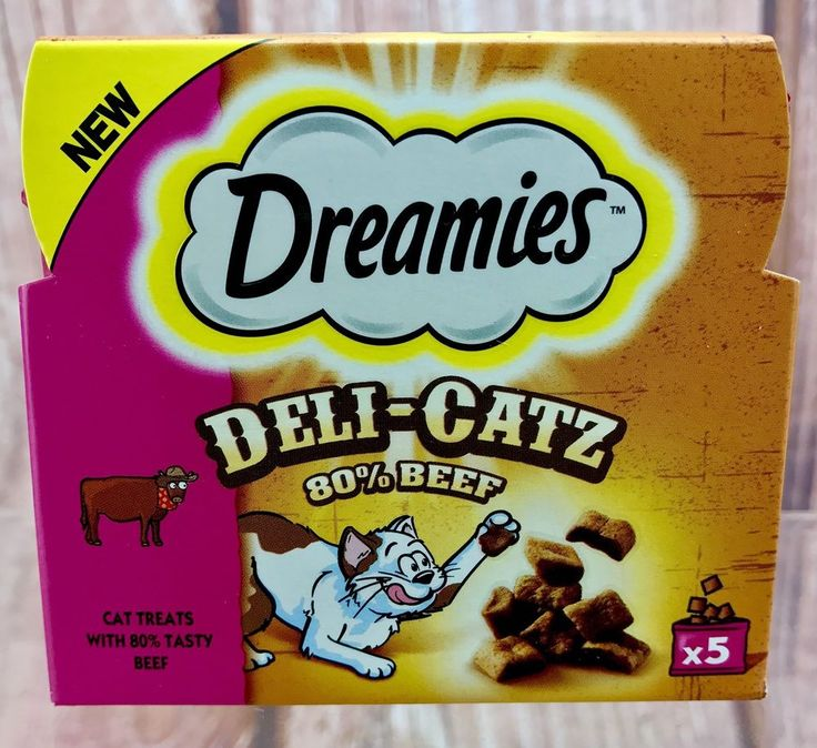 Cat Treats Beef Deli-Catz 5x 25g Bags Sealed pet Food Vitamins Minerals dreamies