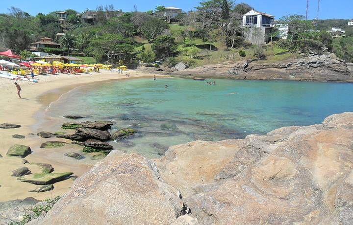 Pequena praia próxima ao canto esquerdo de Geribá - Ferradurinha Búzios