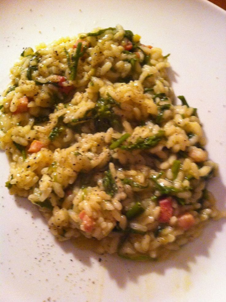⇒ Bimby, le nostre Ricette - Con e Senza Bimby, Risotto Asparagi e Pancetta