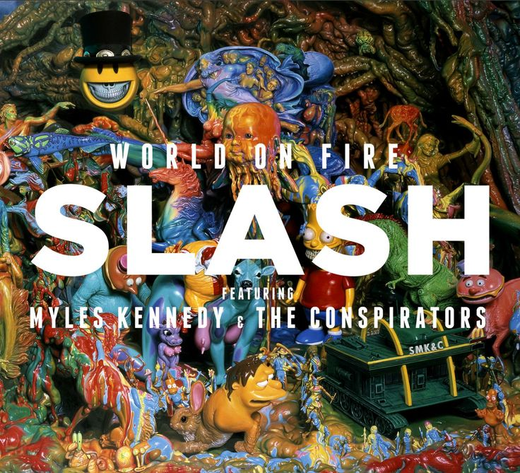Slash is at it again with a release entitled World On Fire – a 2nd time with vocalist Myles Kennedy (Alter Bridge) and The Conspirators (Brent Fitz and Todd Kerns), Roadrunner Records, 15/ 09/ 2014,
