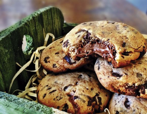 Receita de cookies recheados com creme de avelã Receitas Light