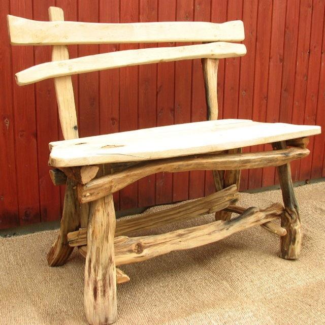 Woodcutteru0027s Bench. Rustic Outdoor BenchesReclaimed Wood BenchesGarden ...
