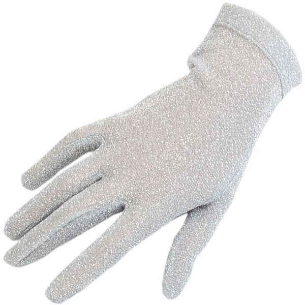 Short Silver Lurex Evening Gloves ($8.76) ❤ liked on Polyvore featuring accessories, gloves, dolls, hands, silver gloves, silver evening gloves, short gloves, ivory gloves and white winter gloves