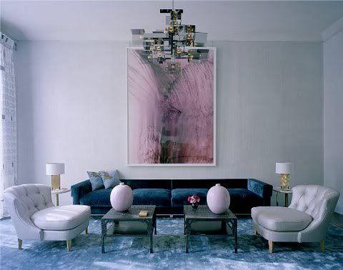 Thumbs Simon Watson Living Room Pale Pink Blue London Cococozy Velvet Sofa Inspiration Renovation In Dumbo
