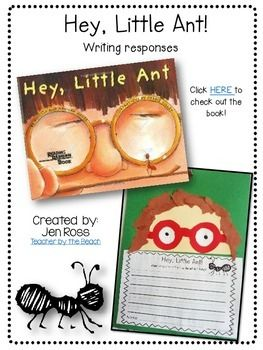 I use these writing activities that when we read Hey, Little Ant. However, you can use these writing pages for any ant book response or writing what they learned about ants!