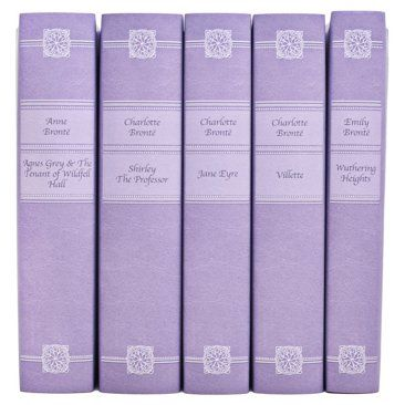 Check out this item at One Kings Lane! S/5 Leather-Bound Brontë Sisters Set