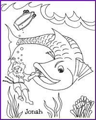 Enjoy Coloring This Picture Of Jonah And The Great Fish