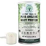 Natural Nutra Organic Whey Protein Powder Unsweetened Grass Fed Scoop Included 12.8 oz