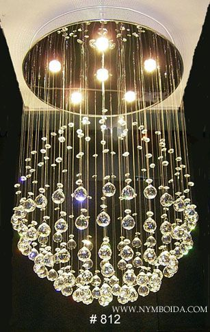 modern chandelier crystal around a light..I can do this!