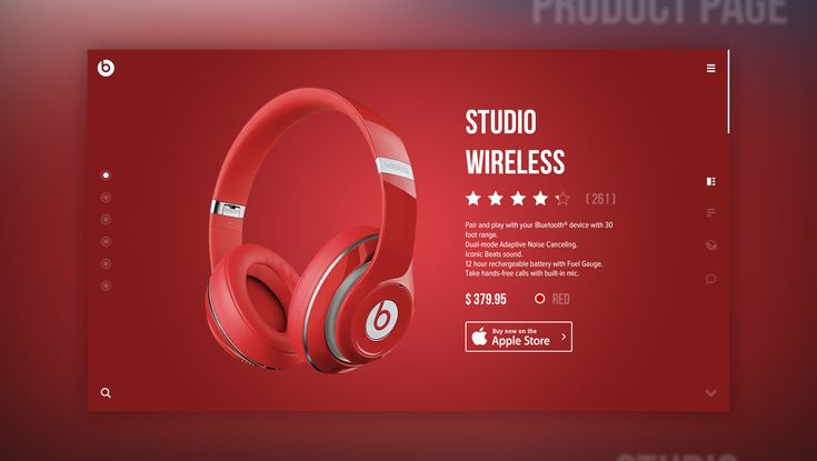 My concept of a website design Beats By Dre. The main difference is the…