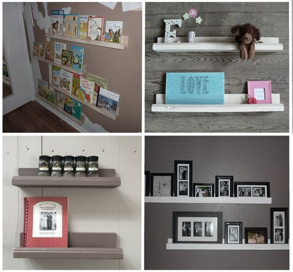 Floating Picture Ledge Cedar Wall Bookshelf Rustic by RehobothFarm