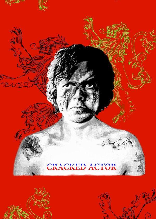 Cracked Actor metal print @displate  #metalprint #actor #heroes #scars #cracks #red #lion #brave #fantasy #man #winedrinkers #face #glamrock #parodies