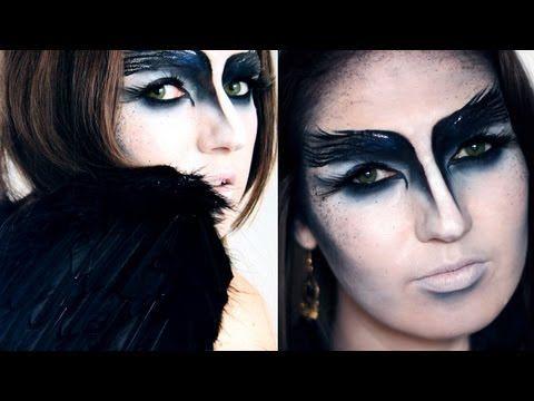 ▶ THE CROW / BLACK SWAN Halloween Makeup Tutorial - YouTube