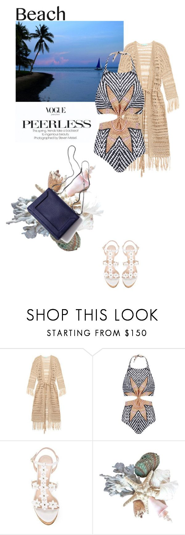 """Starfish"" by annasalenkova on Polyvore featuring Melissa Odabash, Mara Hoffman, Oscar de la Renta, 3.1 Phillip Lim, beach and summerdate"