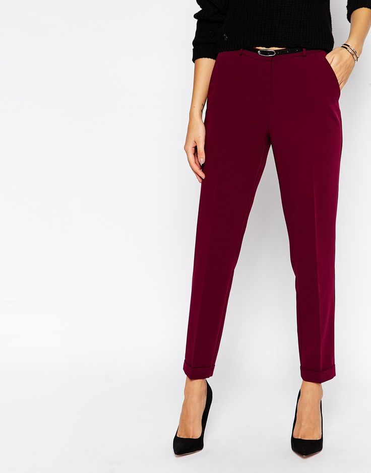 Image 4 of ASOS Cigarette Pant With Belt