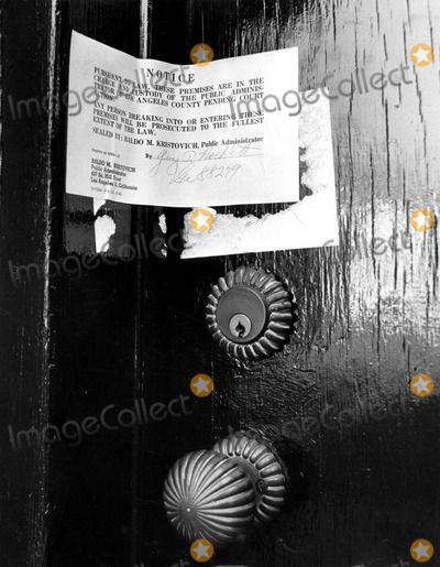 Marilyn Monroe's front door, post - August 5, 1962, Brentwood, CA