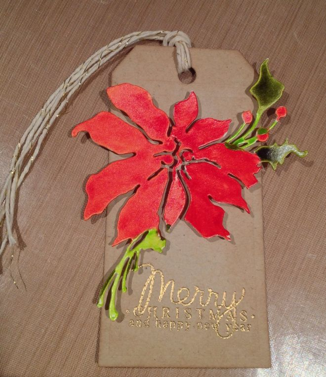 christmas poinsettia tag
