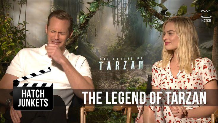 Alex Skarsgård & Margot Robbie Cry Meeting the Real Tarzan | Hatch Junkets