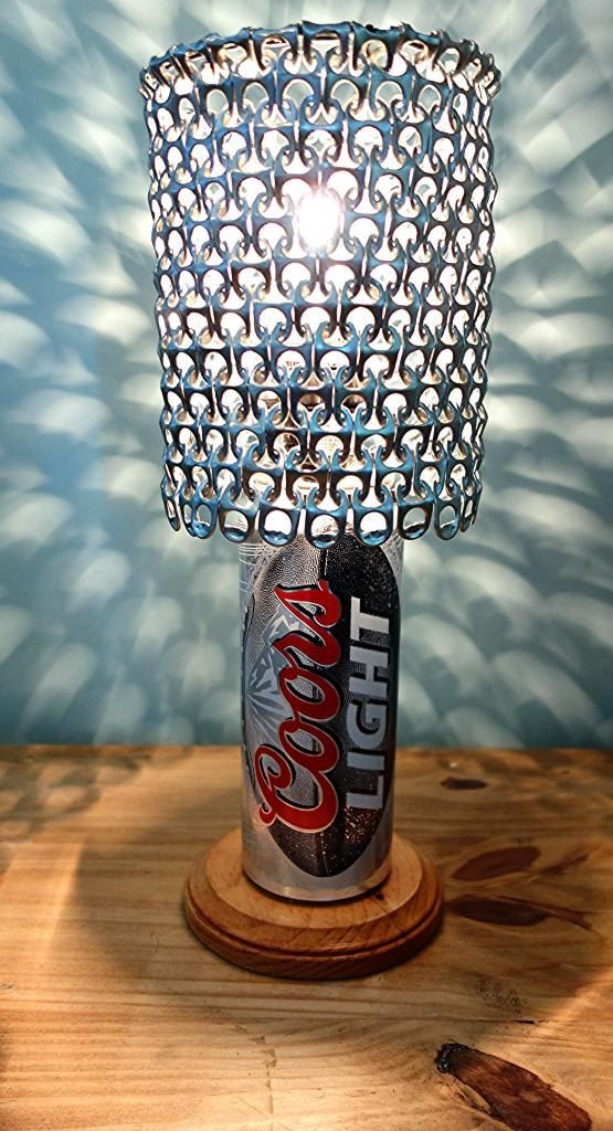 Giant 24 oz Coors Light Football Beer Can Lamp by LicenseToCraft, $37.00