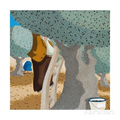 Olive Pickers, 2011 Giclee Print by Victoria Webster - AllPosters.co.uk