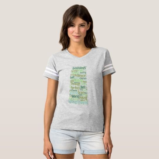 Women's Football T-Shirt It's always game day with this fun and fearless football tee! Soft and comfortable even after the last touchdown is scored, this is a shirt you'll want to keep on long after football season ends.#saskatchewan