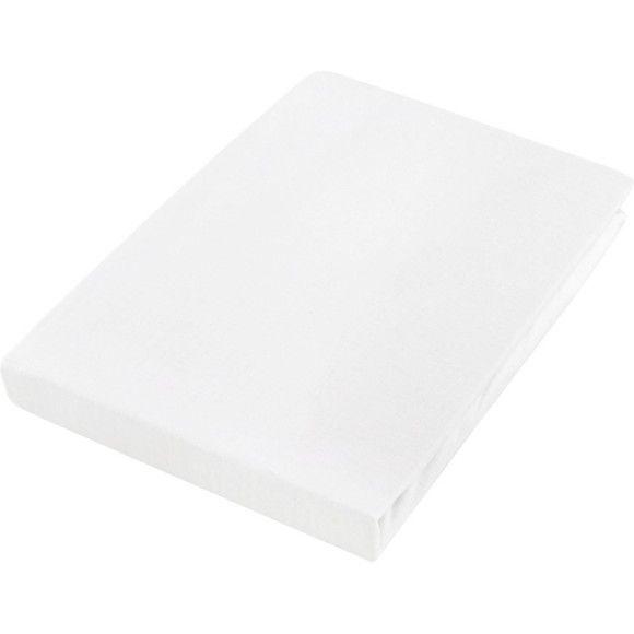 Praktisches Bettlaken in Weiß mit Rundumgummi