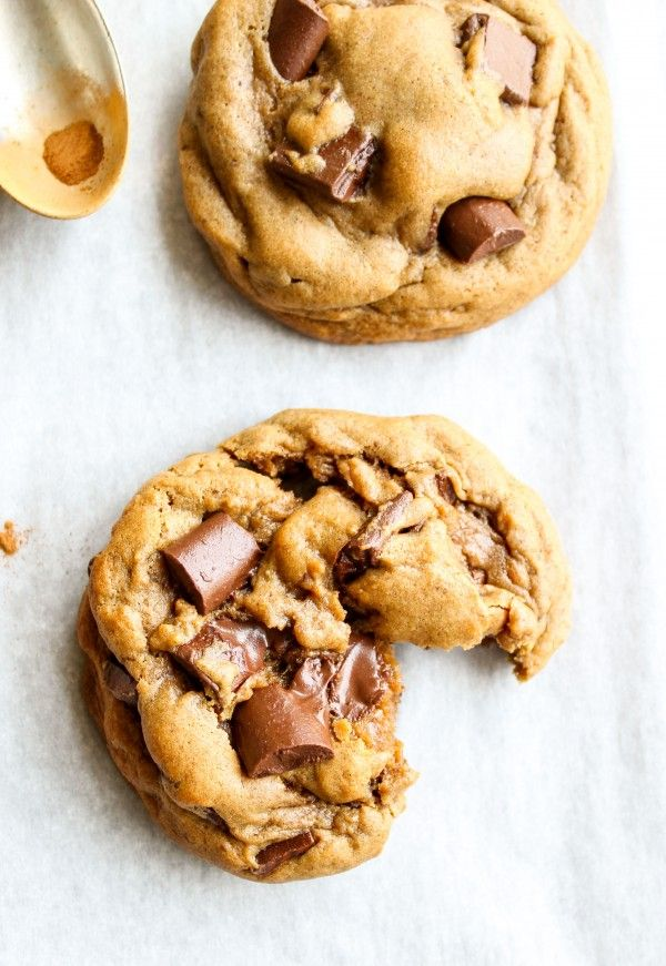from The Food Charlatan // These chocolate chunk gingerbread cookies are some of the richest and spiciest you will ever eat. And the biggest and softest and gooiest.