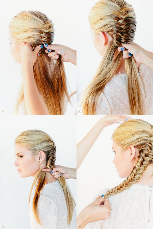 long fishtail braid hairstyles | fishtail braid http www oncewed com diy fishtail braid tutorial