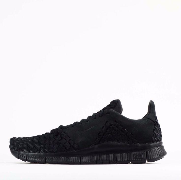 Nike Free Inneva Woven II 2 Mens Casual Trainers Shoes Triple Black #Nike #CasualTrainers