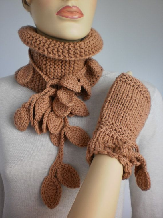 Fall Fashion Hand Knit and Crochet Set of  Scarf by levintovich, $68.00