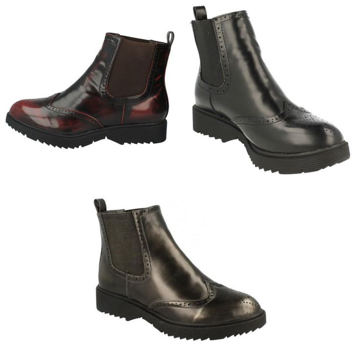 Spot On Womens/Ladies Brogue Style Dealer Boots