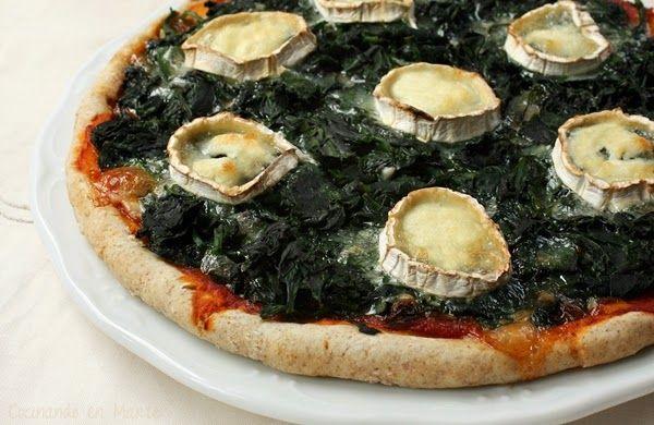 Pizza de espinacas y queso de cabra | Cocinar en casa es facilisimo.com