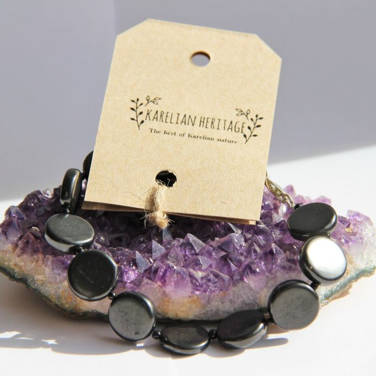 "Amazing shungite bracelet ""12 months"" with a chain snap Price: $17.99"
