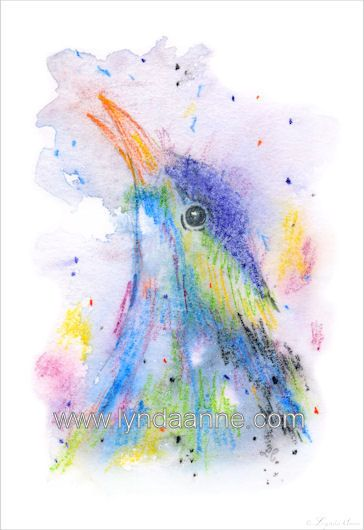 I think this shall become a fabric panel!  I had a bit of fun sketching this little guy. #fabricpanel #bird www.lyndaanne.com